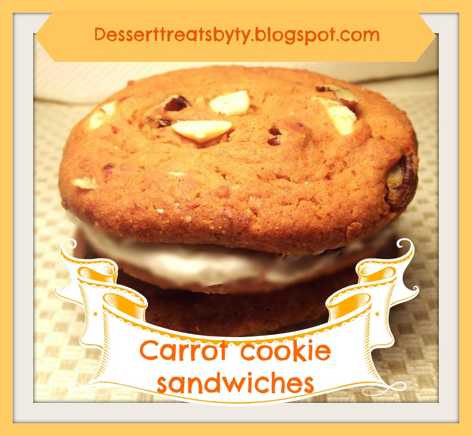 cookie lovers ! Today I what you try my carrot cake cookie sandwiches ...