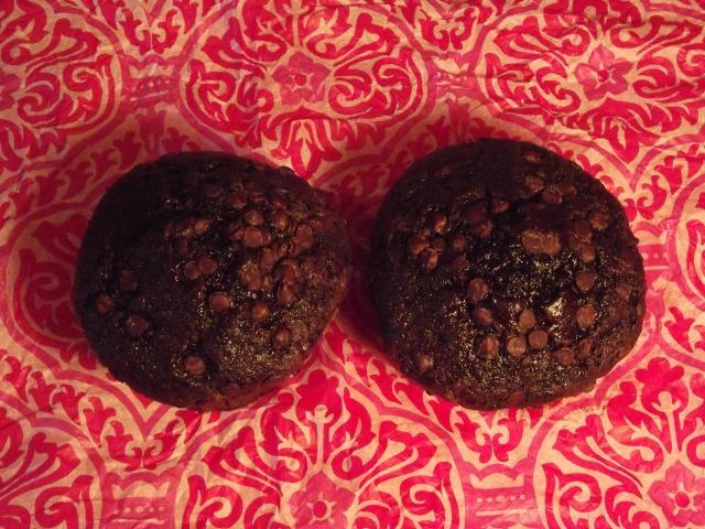 Jumbo gluten free chocolate muffins