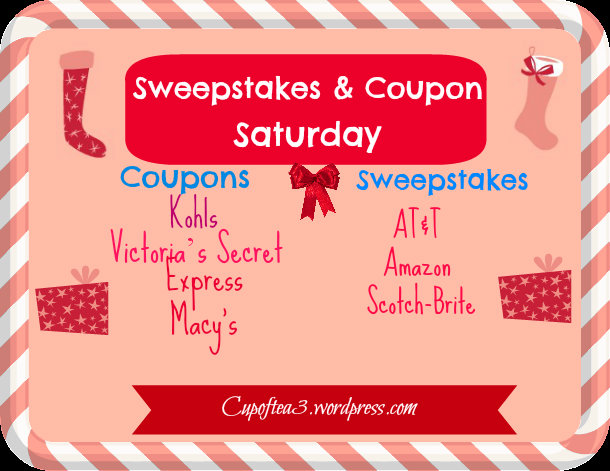 Sweepstakes Saturday & coupon deals
