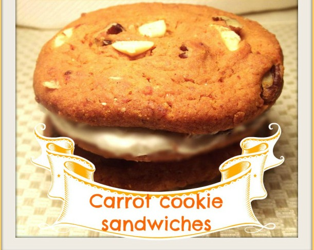 carrot cookie sanwiches