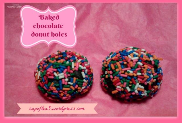 baked doughnuts holes