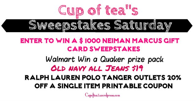 sweepstakes saturday march 1